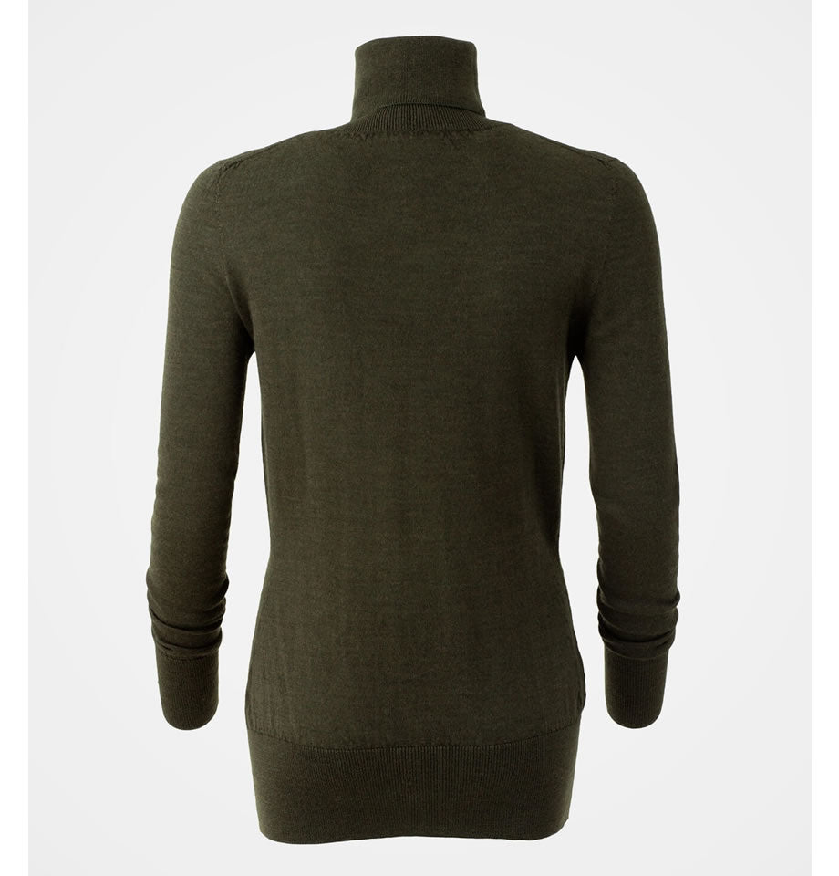 Merino Roll Neck Jumper Olive
