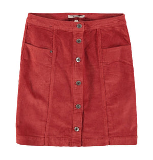 Garcia Fired Brick Corduroy Skirt U00123