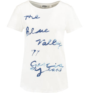 Garcia Ladies Blue Valley Short Sleeve T-Shirt T80202