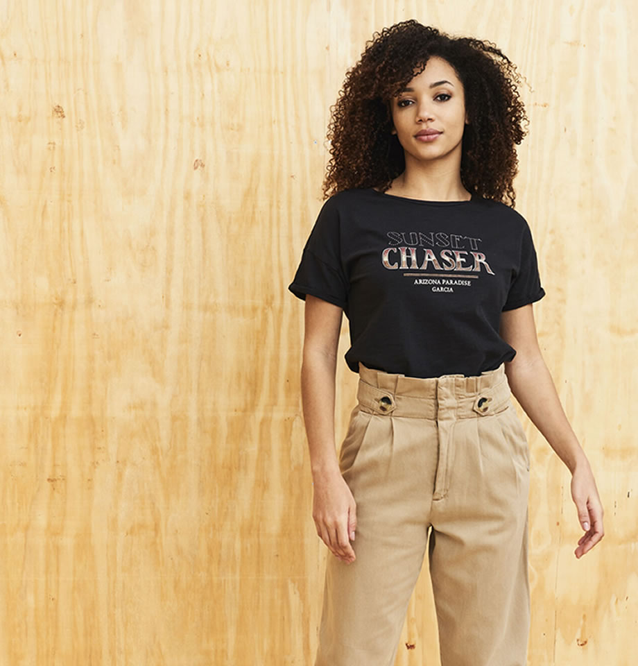 Garcia High Waist Safari Pants Tan D10111