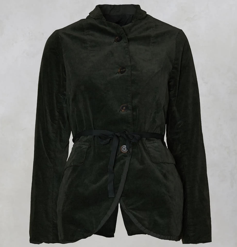 Jacobine Peter Pan Green Velvet Jacket