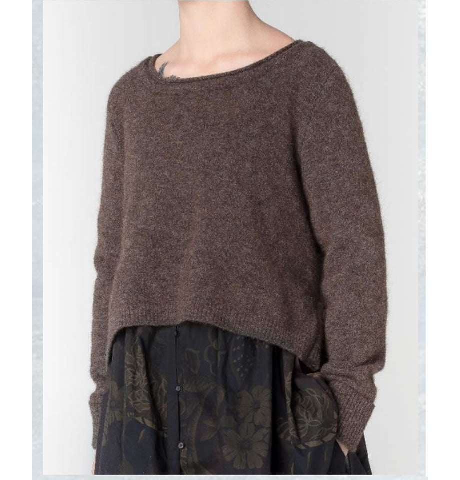 JAYKO Tommen Crop Jumper Brown