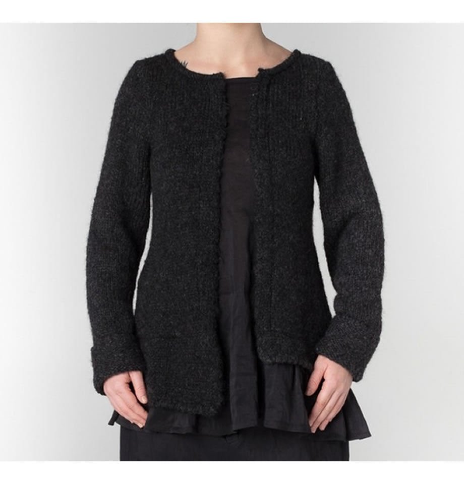 JAYKO Ellaria Black Wool and Sheer Jumper