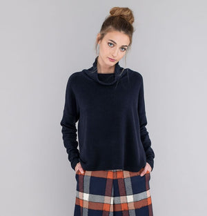 Mama B Prag C Ink Ribbed Jumper