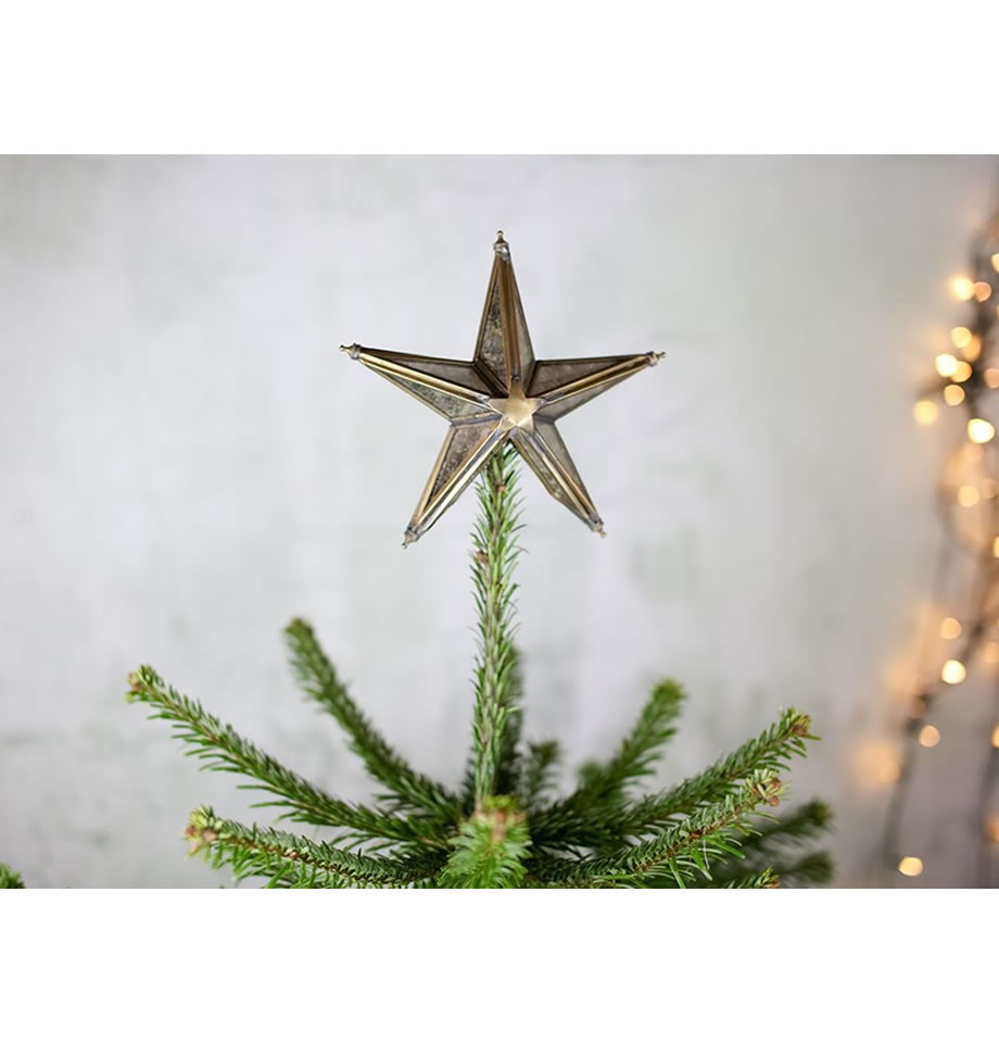 Nkuku Bakara Star Tree Topper Brass BT0401