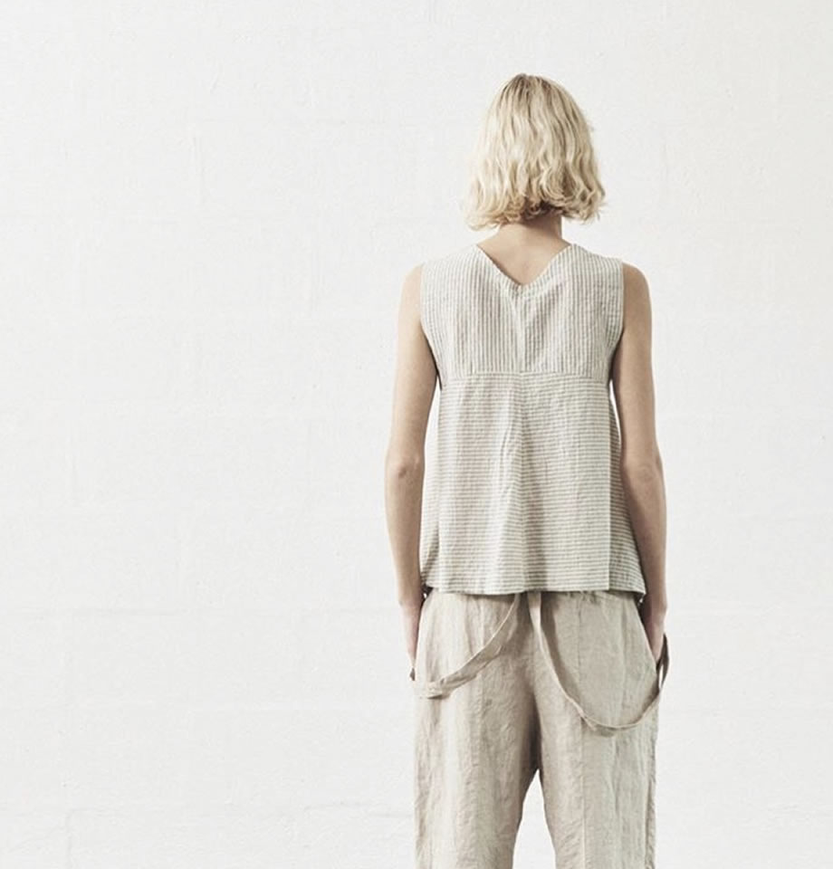 Transit Par Such Stripe Cotton and Silk Vest Top