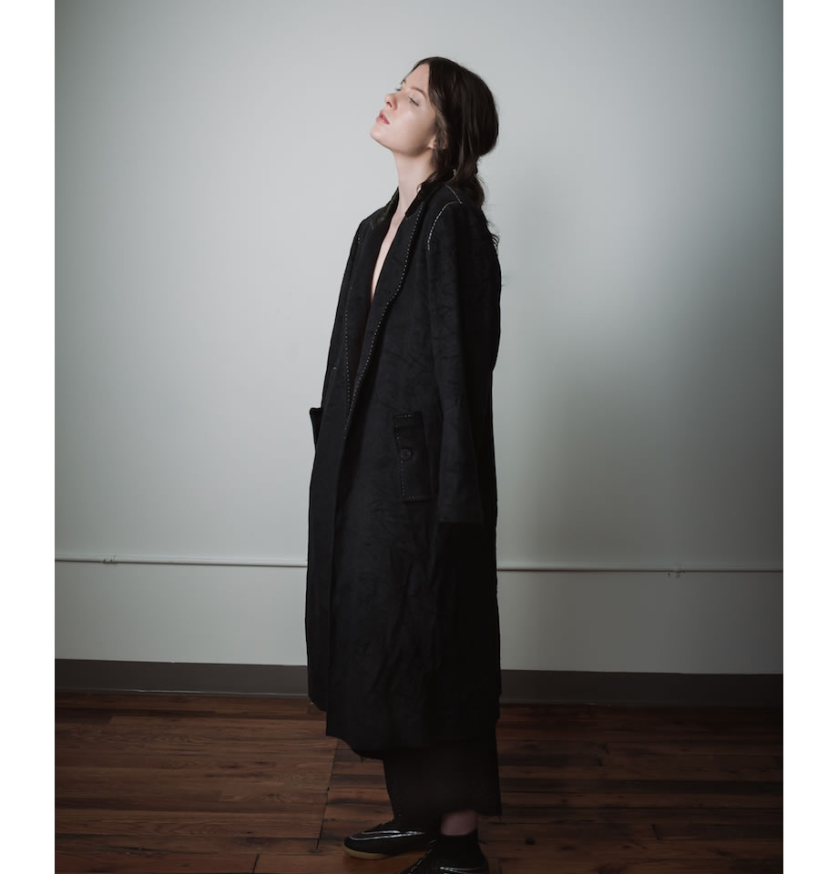 Umit Unal - Black Wool Coat - CW917