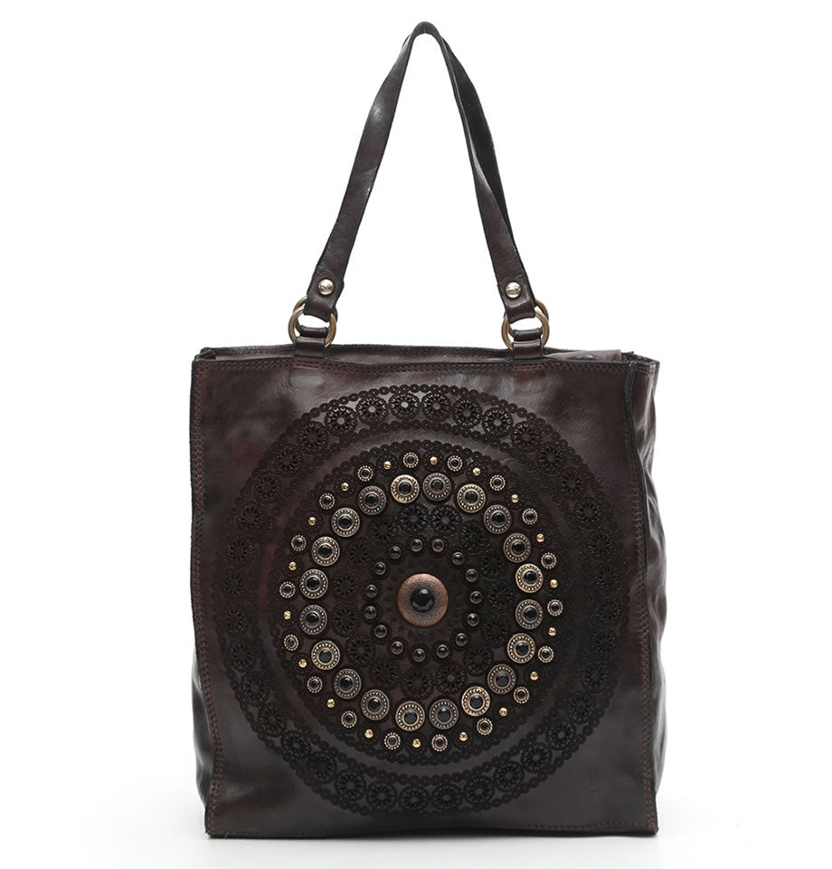 Campomaggi - Studded Shopper, Dark Grey, C008850ND