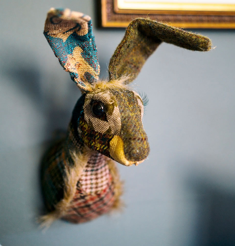 Textile taxidermy Hatty the Hare