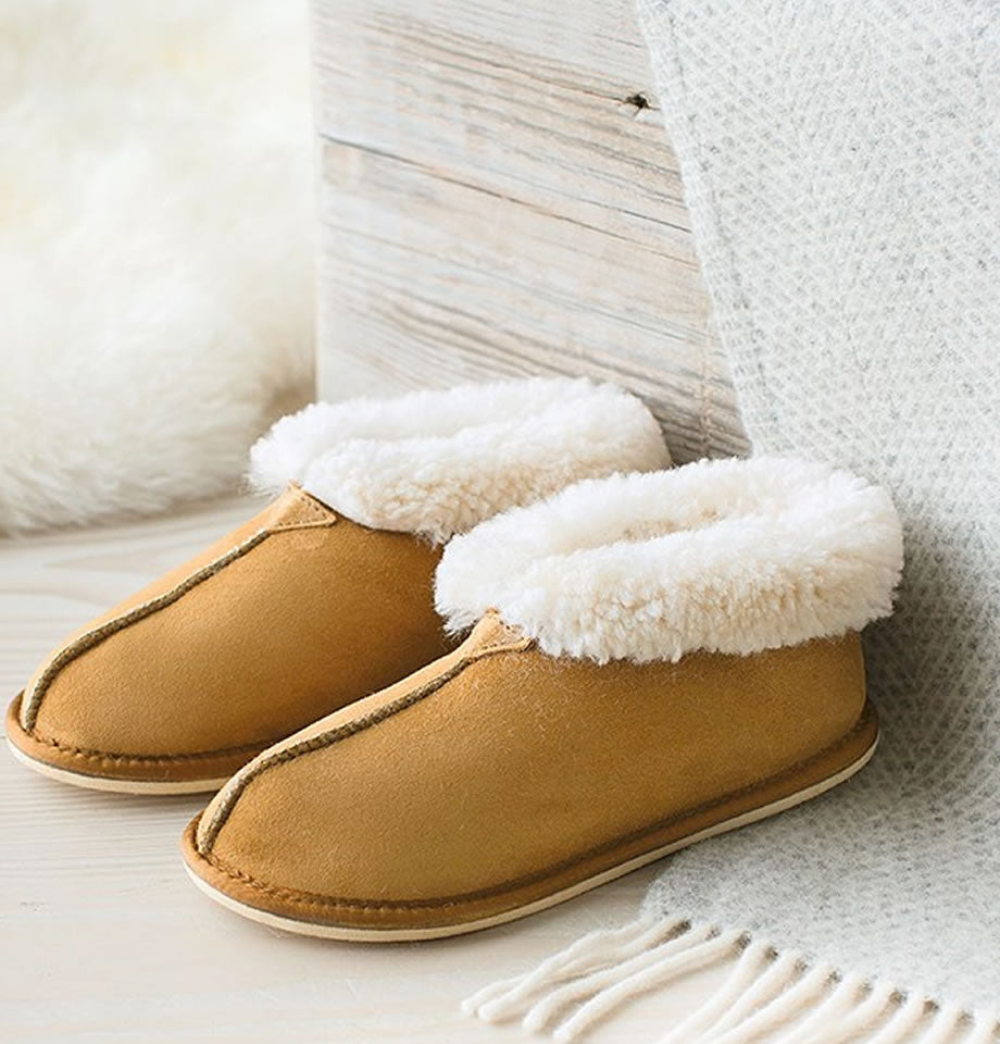 Celtic & Co. Ladies Sheepskin Boots - Bootee Slippers Spice