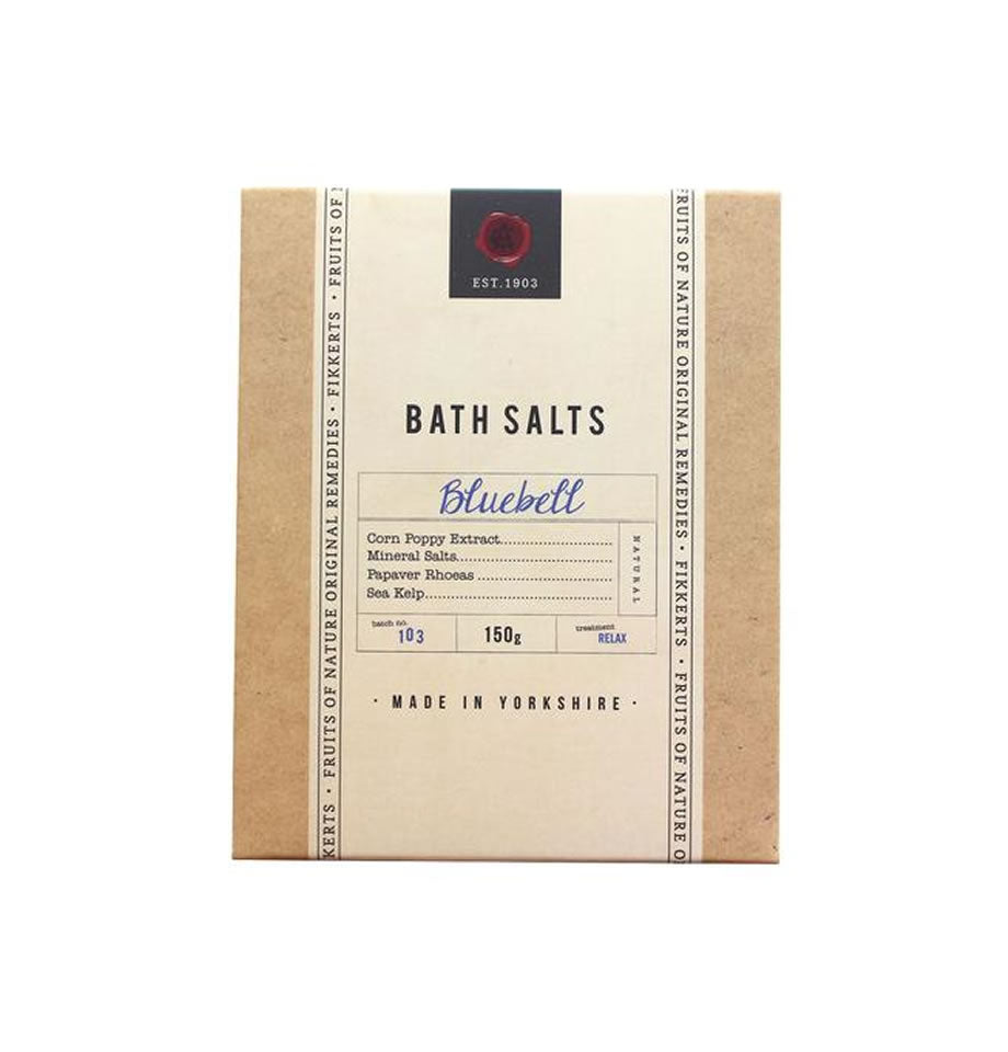 Fikkerts Bluebell Bath Salts 150g