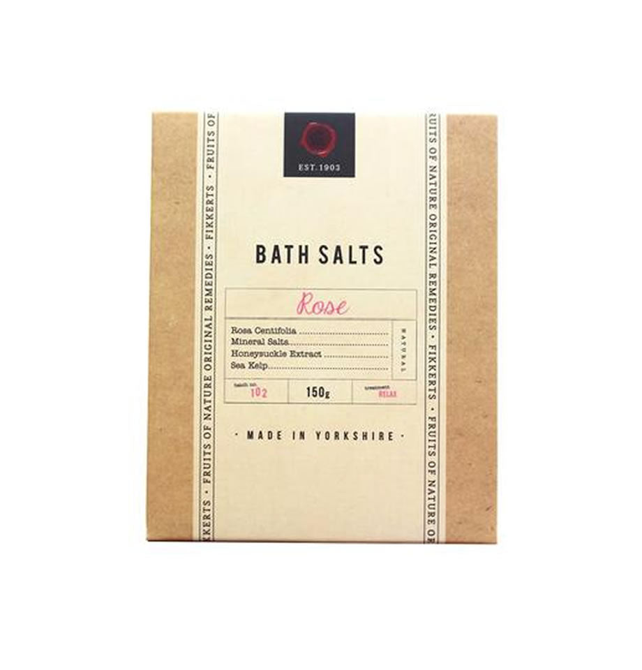 Fikkerts Rose Bath Salts 150g