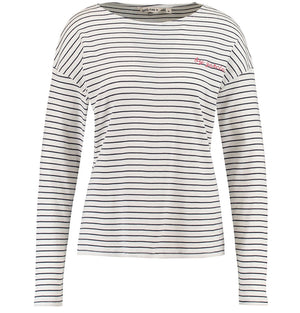 Garcia Ladies Long Sleeve Stripe T-Shirt M80006 Marine