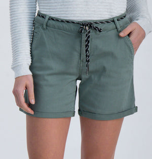 Cotton Shorts Green Army