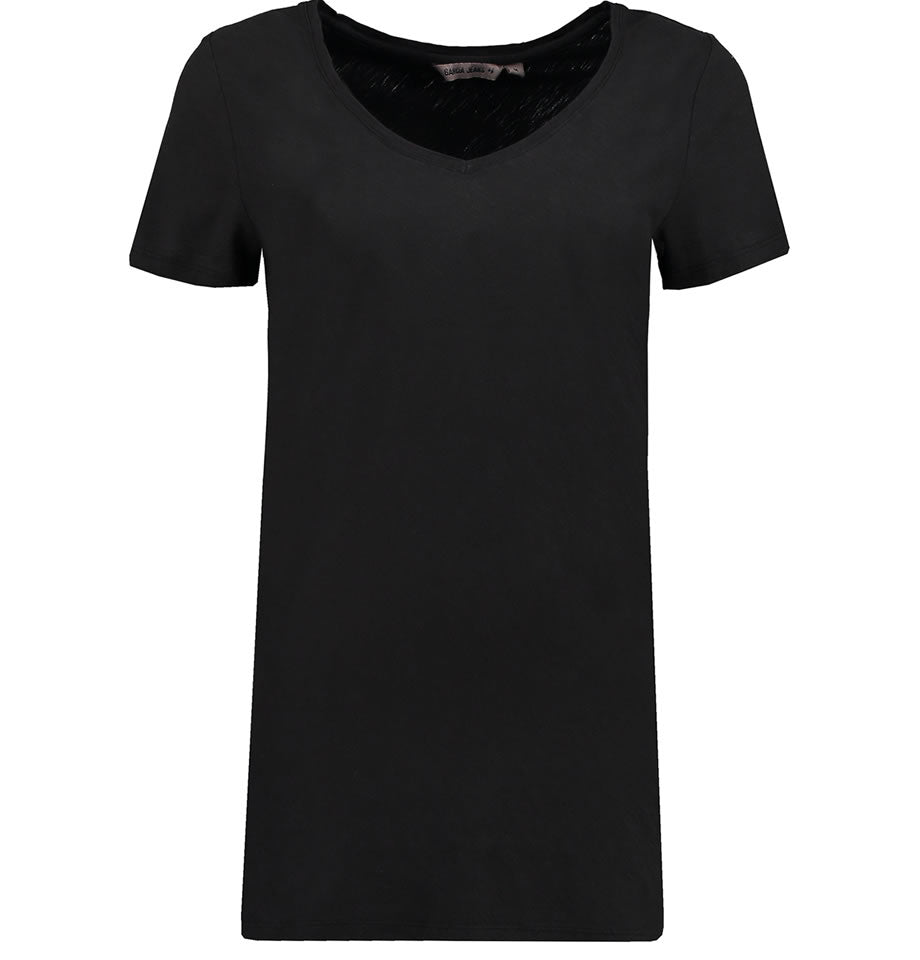 Garcia Ladies Donna Short Sleeve T-Shirt Z00041 Black