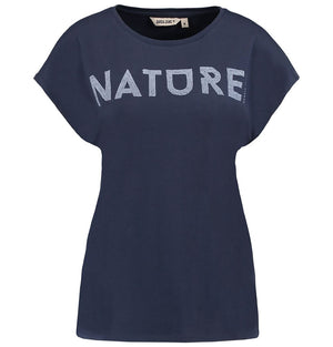 Garcia Ladies Short Sleeve NATURE T-Shirt Marine Q80002