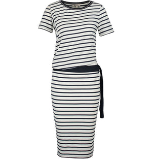 Garcia Ladies Cotton Belted Dress Stripe O80084
