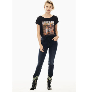 Garcia Ladies Always and Forever Graphic Tee Black S00005