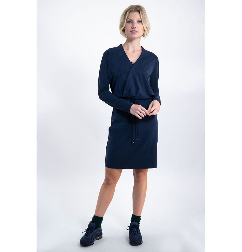 Garcia Dark Moon Navy Wrap Dress J90280
