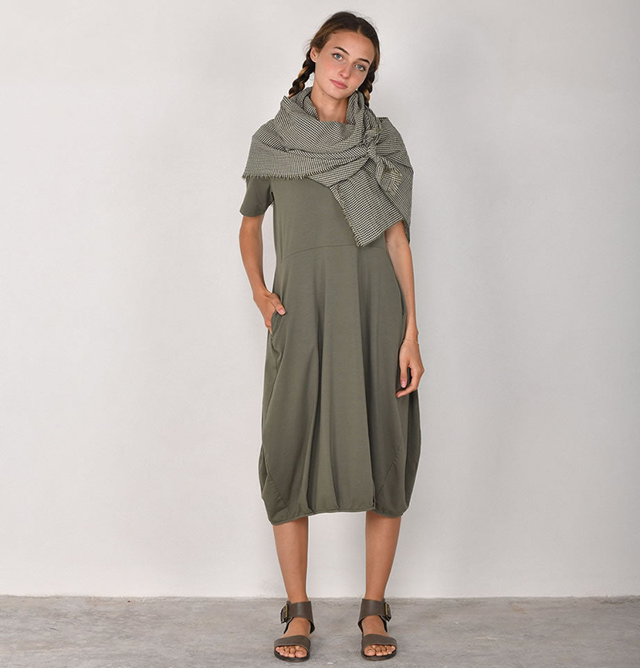 Mama B Dogliani Izmir Cotton Dress Thyme