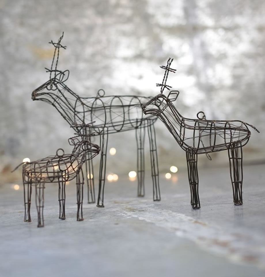 Nkuku Ineko Wire Reindeer Orange Rust IR0101