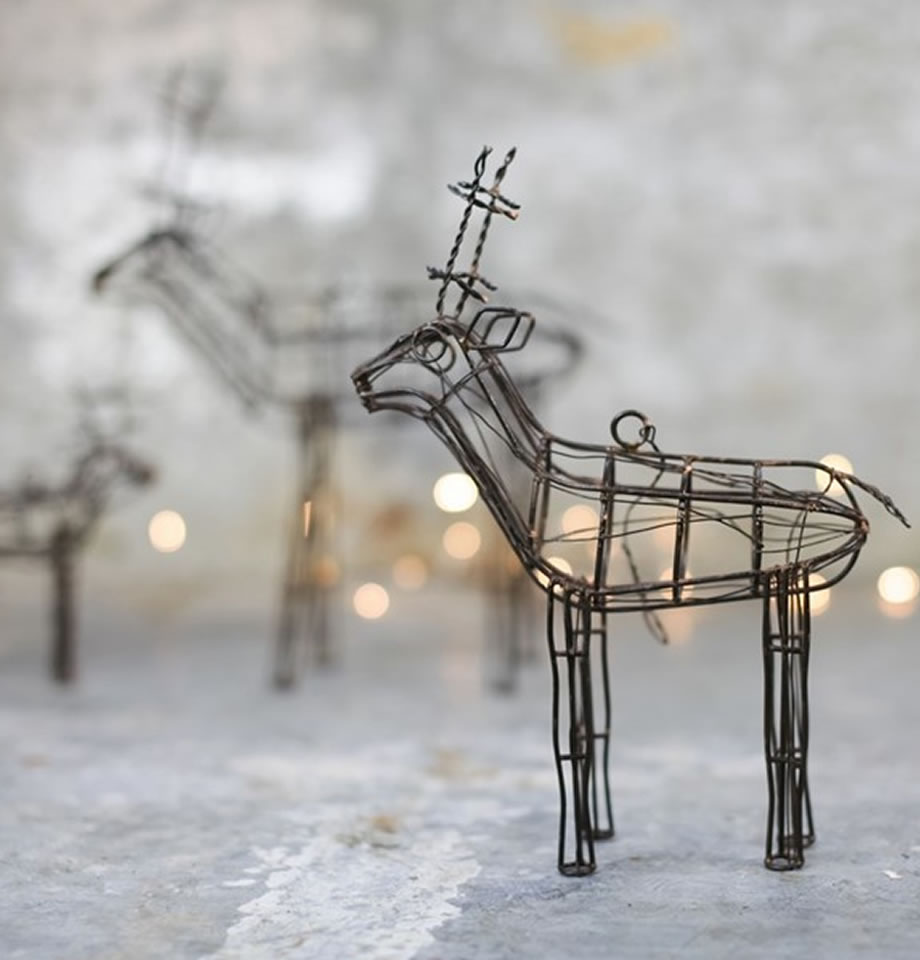 Nkuku Ineko Wire Reindeer Orange Rust IR0102