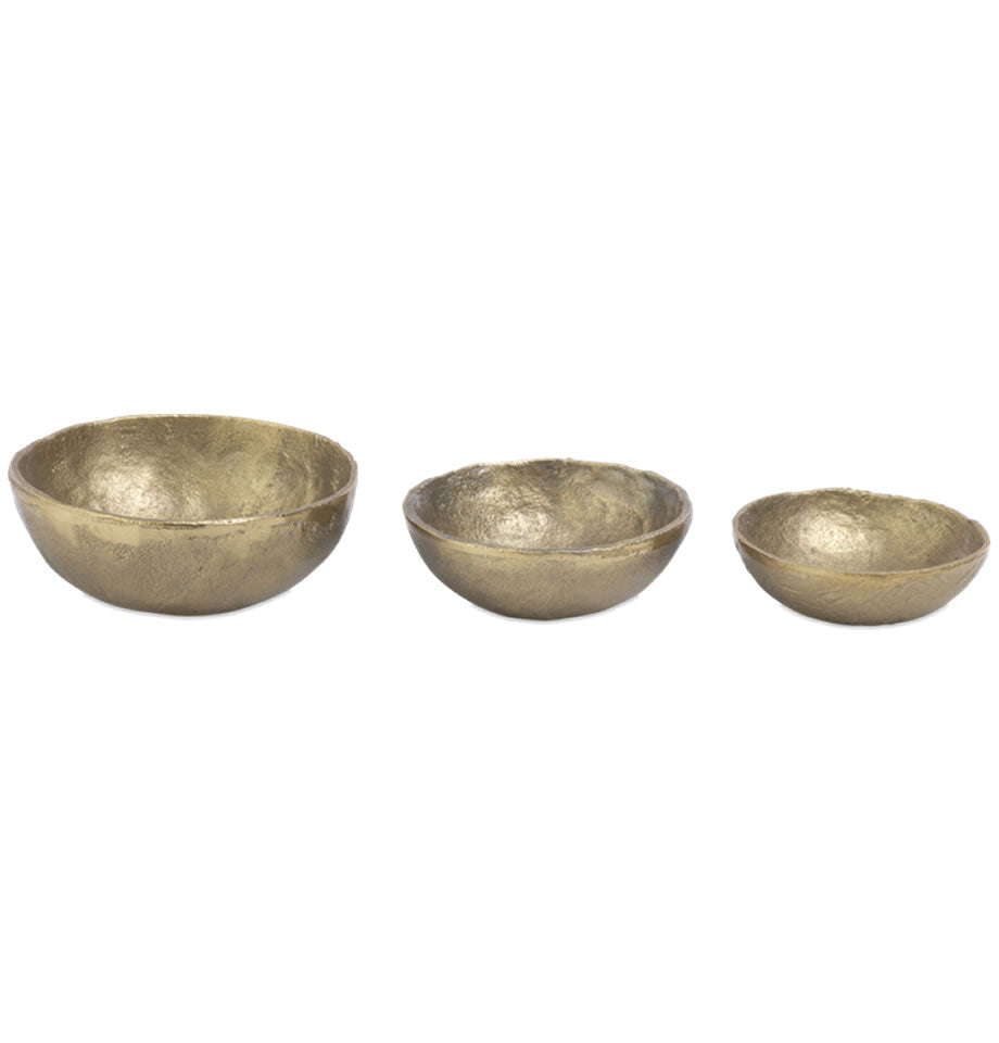 Nkuku Jahi Brushed Gold Bowl Small JB2901