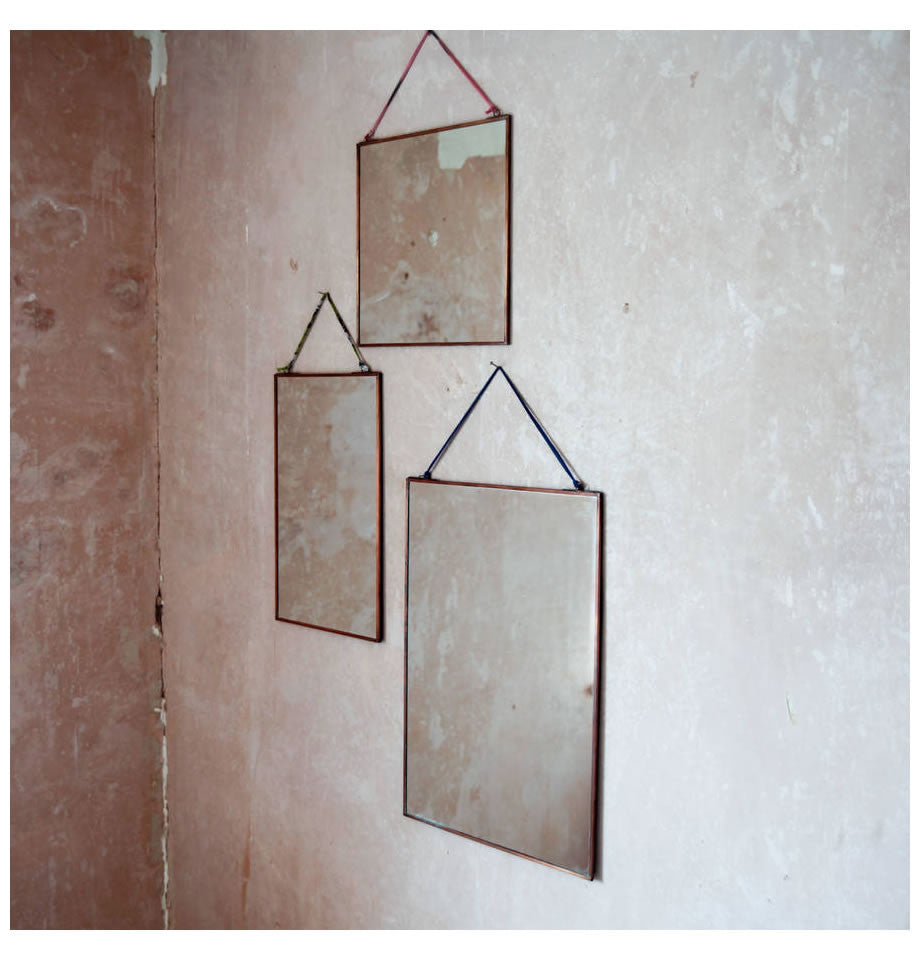 Nkuku Kiko Brass Mirrors Various Sizes