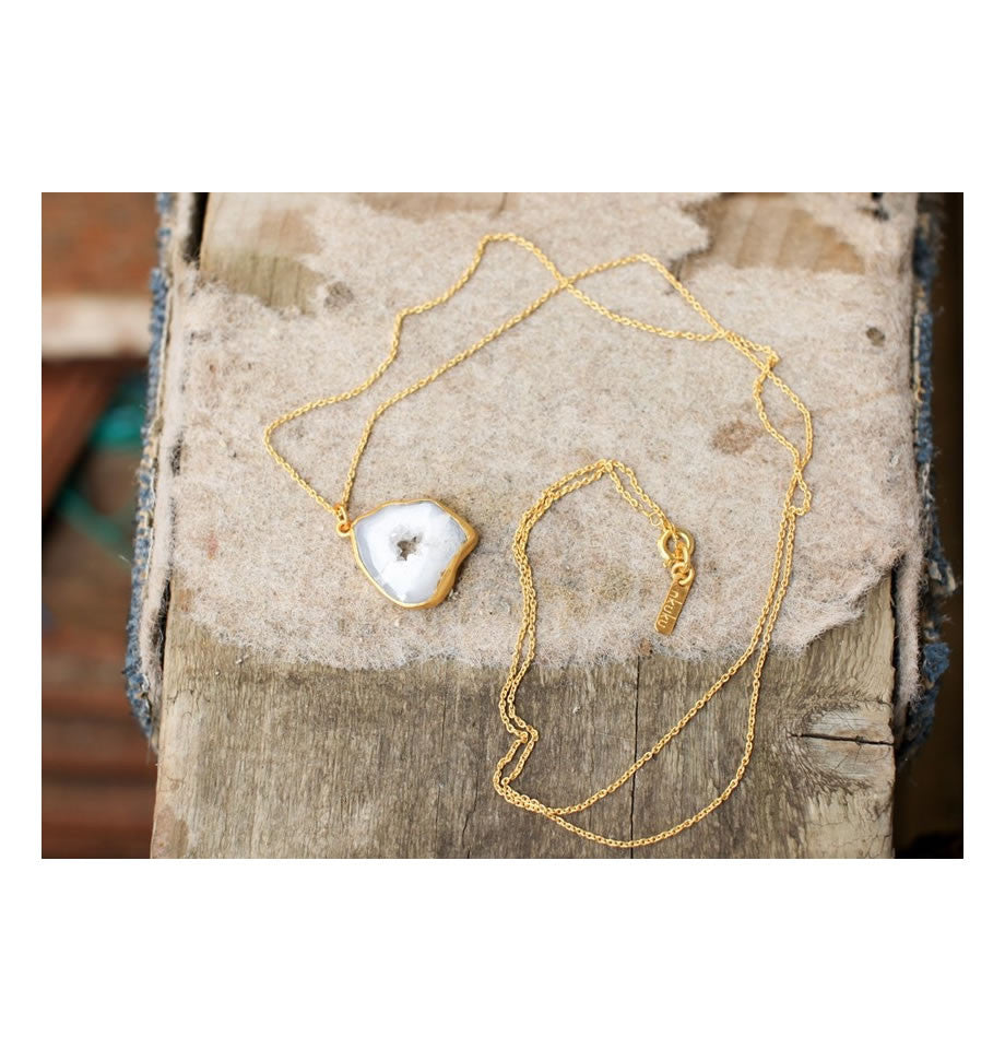 Nkuku Natural Druzy Necklace