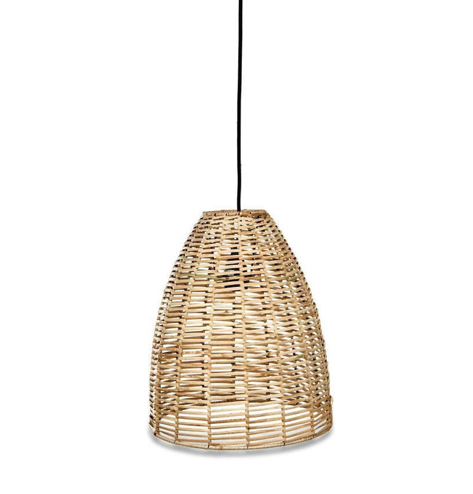 Noko Wicker Conical Pendant Natural - Three Sizes Available