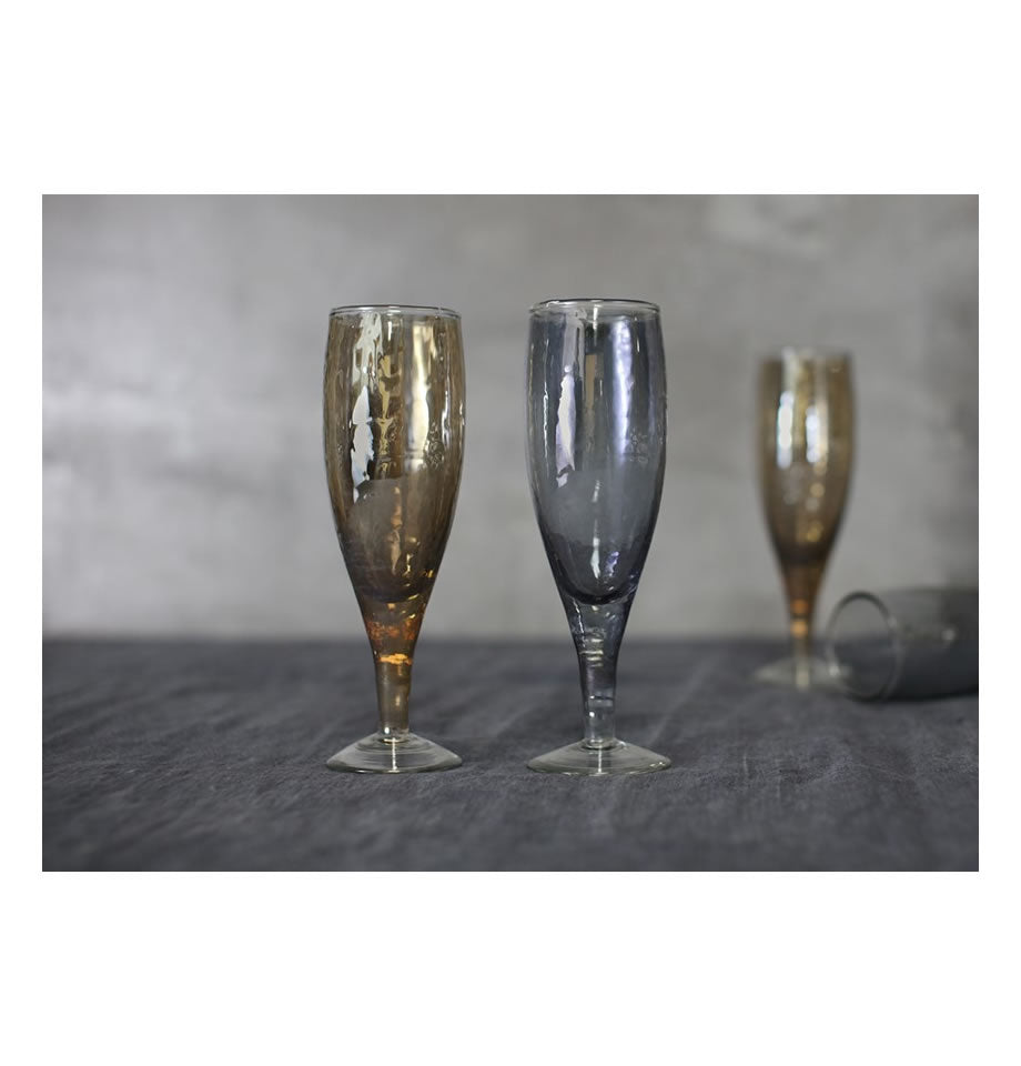 Nkuku Ozari Champagne Glass Copper