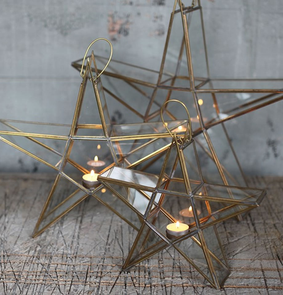 Nkuku Sanwi Standing Star Antique Brass Medium SS2602