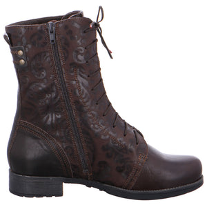 Think Shoes Denk Patterned Multi-tone Boots