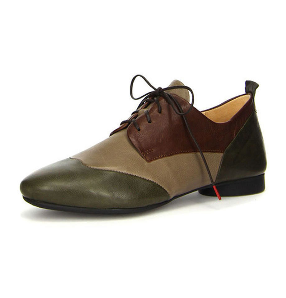 Think Shoes Guad Brown and Olive Green Kombi