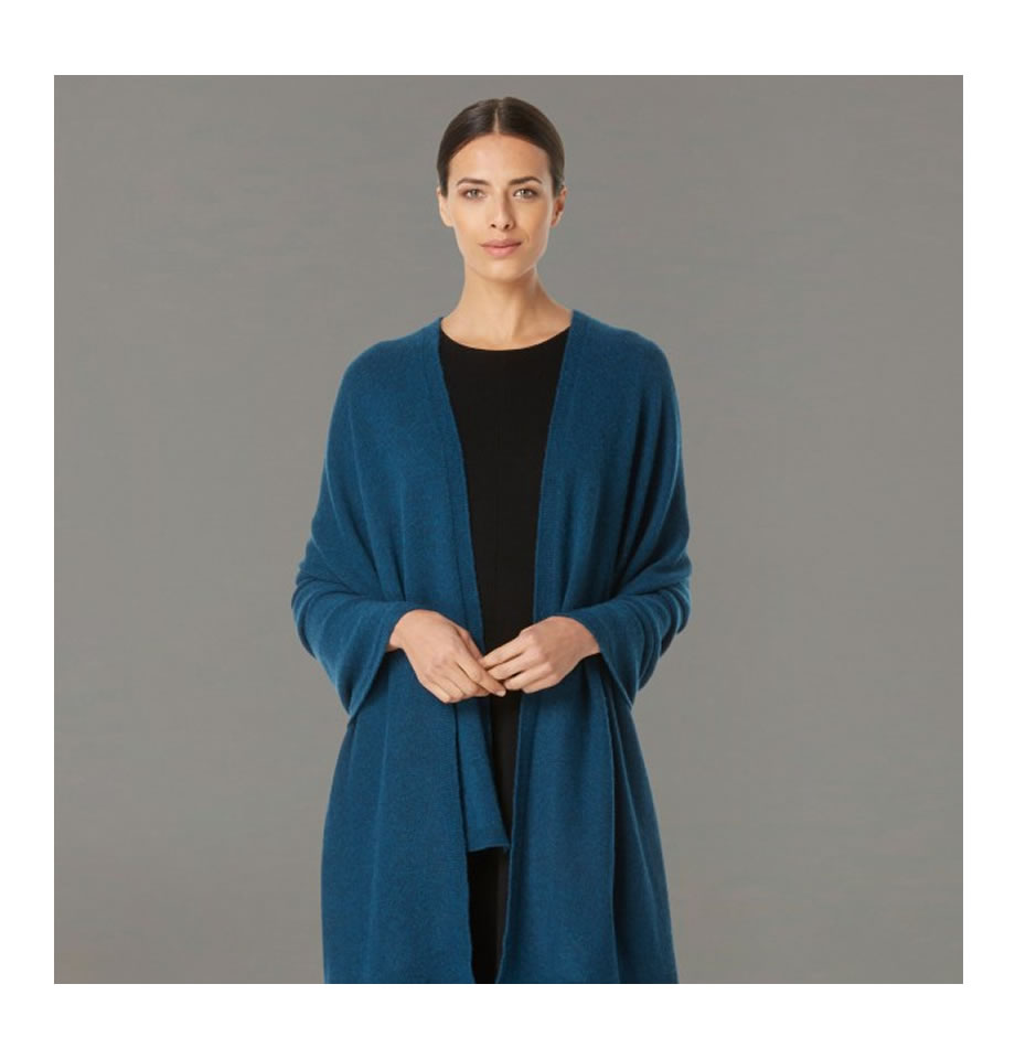 Classic Teal Cashmere Travelwrap