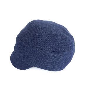 KH Blaize Peaked Cap In French Navy Cotton-Blend