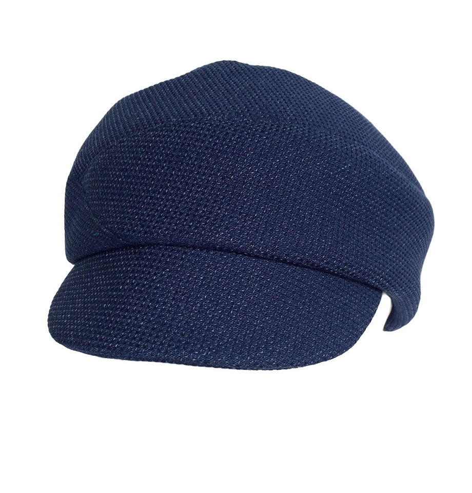 Karen Henrikson Blaize Peaked Cap In French Navy Cotton-Blend