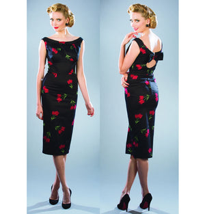 Stop Staring Alabama Black Top Tulip Dress