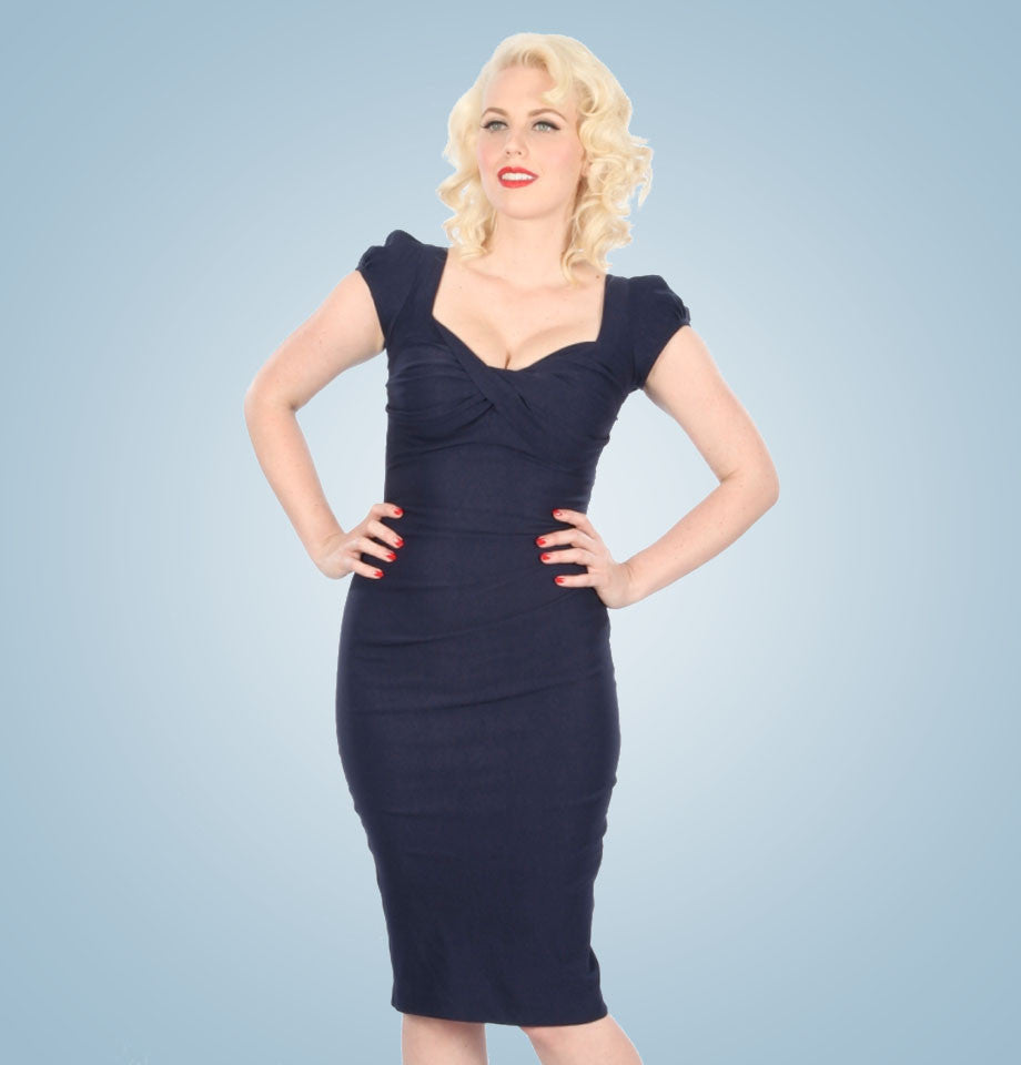 Stop Staring Billion Dollar Baby Dress Navy