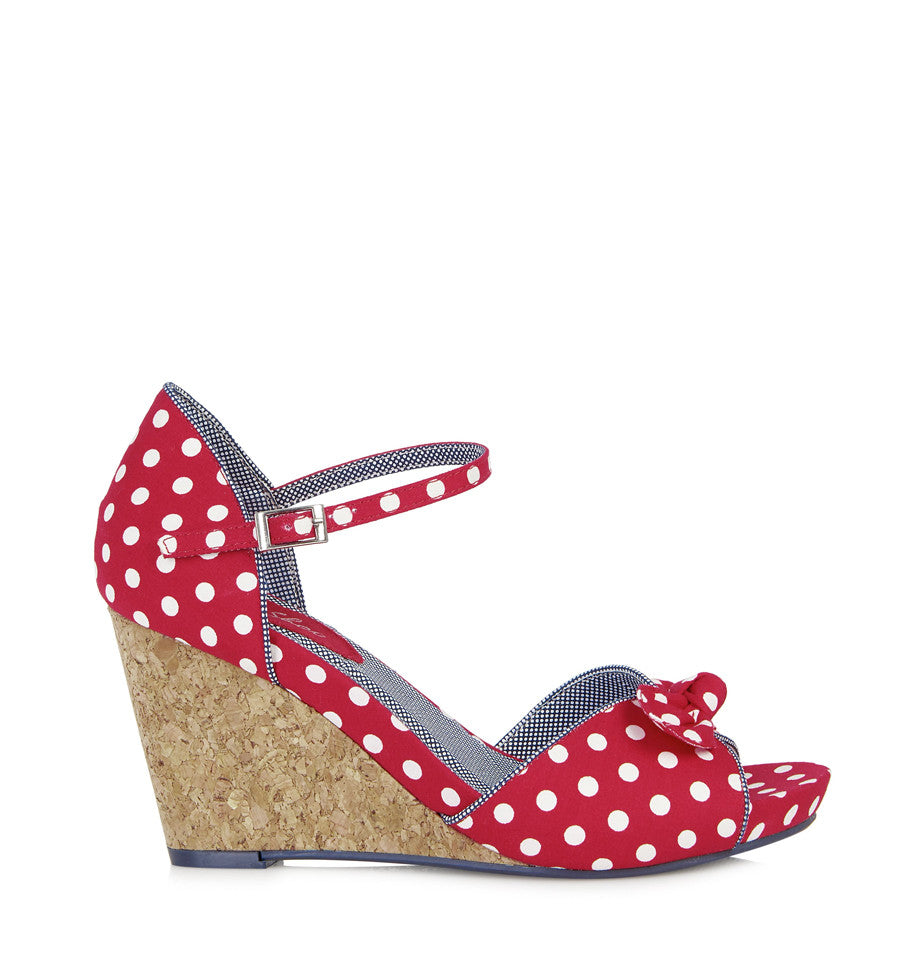 Ruby Shoo Molly Red Spots