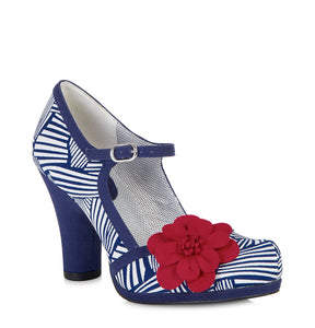 Ruby Shoo Tanya Navy and White