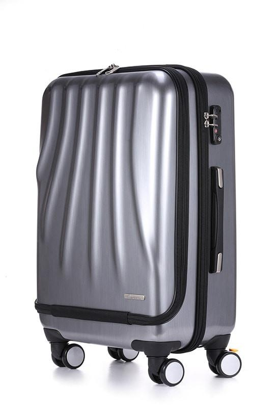 LE MAURICE & CO. MARSEILLE Suitcase Medium 68 cm Brushed Platinum Šü_Œ_܌¥_ŒÉ??_Ž_Û