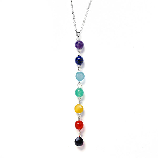 7 Chakra Pendant Necklace - Thelovingessence.co.uk