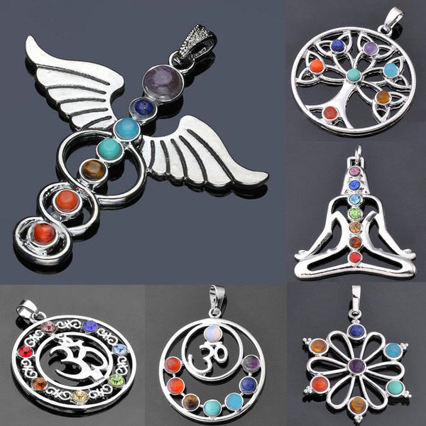7 Chakra Necklace Pendant - Thelovingessence.co.uk