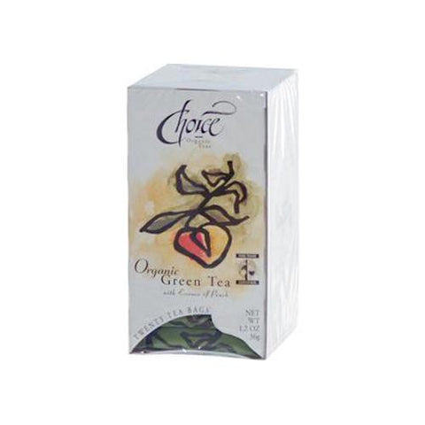 Choice Organic Teas Green Tea With Essence Of P - Case Of 6 - 20 Bags