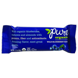 Pure Organic Pure Fruit And Nut Bar - Organic - Wild Blueberry - 1.7 Oz Bars - Case Of 12