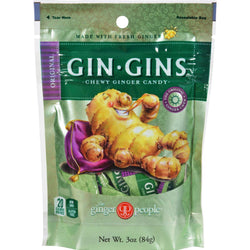 Ginger People Gingins Chewy Originals Bags - Case Of 24 - 3 Oz
