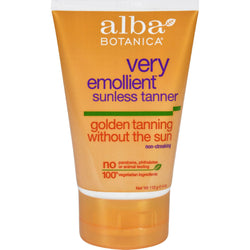 Alba Botanica Very Emollient Sunless Golden Tanning Natural Formula - 4 Oz