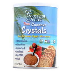 Coconut Secret Raw Crystals - Coconut - Case Of 12 - 12 Oz.