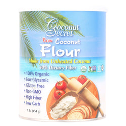 Coconut Secret Raw Flour - Coconut - Case Of 12 - 16 Oz.